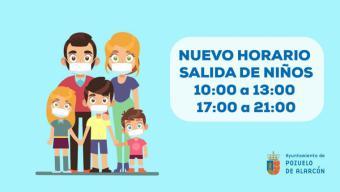 NUEVO HORARIO: Los niños puedan salir a dar un paseo de 10h a 13h y de 17h a 21h