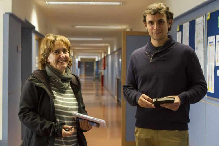 Unai Sanz yPatricia Cabal, número 2,  en la Escuela Oficial de Idiomas.