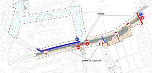 El Ayuntamiento informa de cortes de tráfico en la céntrica calle Sagunto para la realización del saneamiento y alumbrado de esta zona