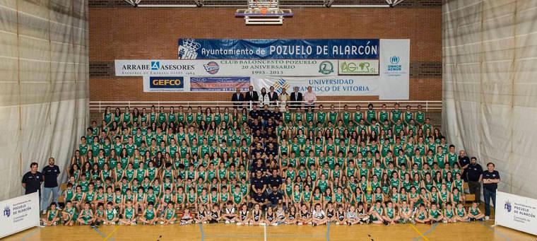La gran familia del Club Baloncesto Pozuelo