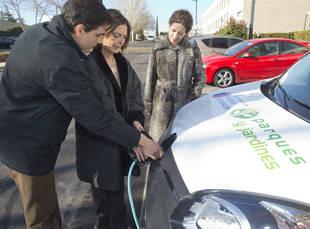 Pozuelo estrena un punto de recarga de vehículos eléctricos